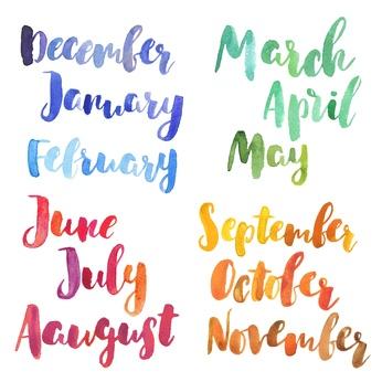 miesiące po angielsku a pory roku