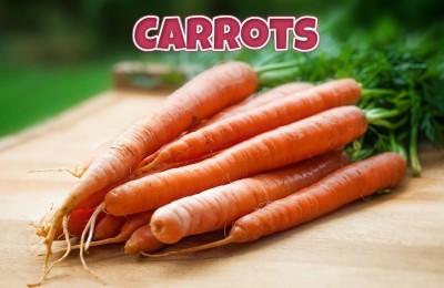 warzywa po angielsku carrots marchewki