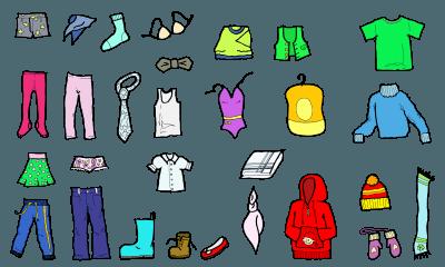 ubrania po angielsku