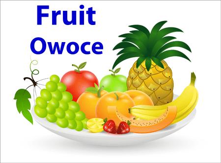 Owoce po angielsku.