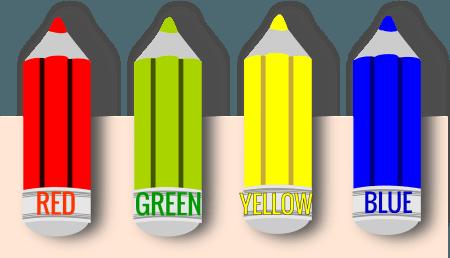 kolory po angielsku