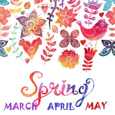 miesiace po angielskuz podziałem na pory roku: wiosna