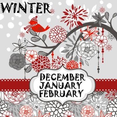 Miesiące po angielsku z podziałem na pory roku: zima