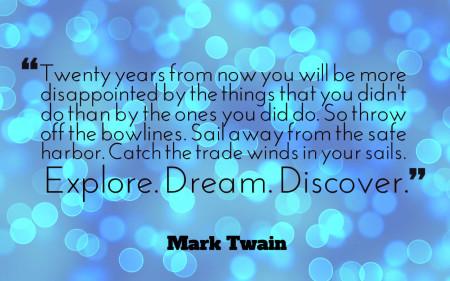 Twain cytat  po angielsku, za dwadzieścia lta