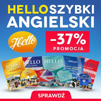 Hello Szybki Angielski 5 książek + 4 CD Od podstawowych słówek i zwrotów, samodzielna nauka angielskiego . Słówka, zwroty, wymowa po polsku. Mega praktyczny zestaw.