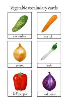nazwy warzyw i owoców po angielsku