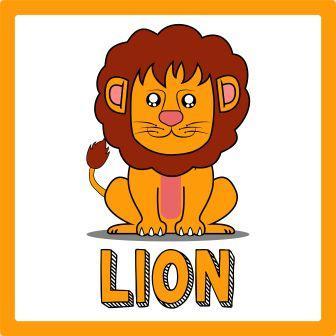 zwierzęta po angielsku ćwiczenie lew