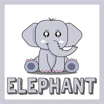 zwierzęta po angielsku ćwiczenie słoń