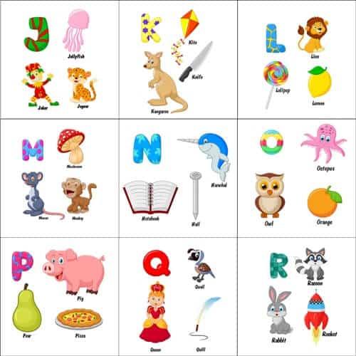 alfabet angielski słówka alfabetycznie