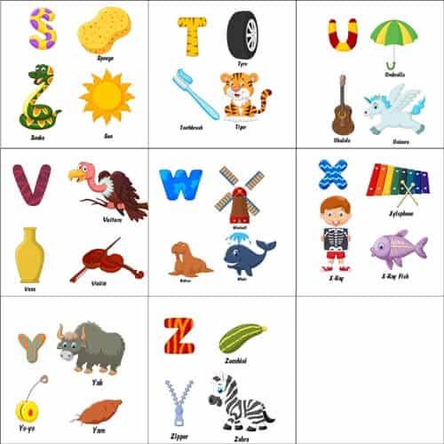 alfabet angielski slówka