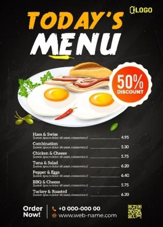 menu w restauracji po angielsku