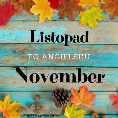 listopad po angielsku