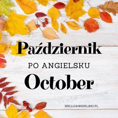 październik po angielsku