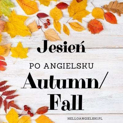 pory roku po angielsku - jesień