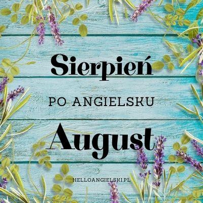 sierpień po angielsku